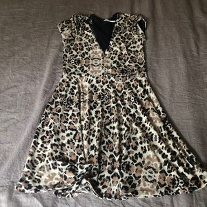 Urban Outfitters Leopard skater dress